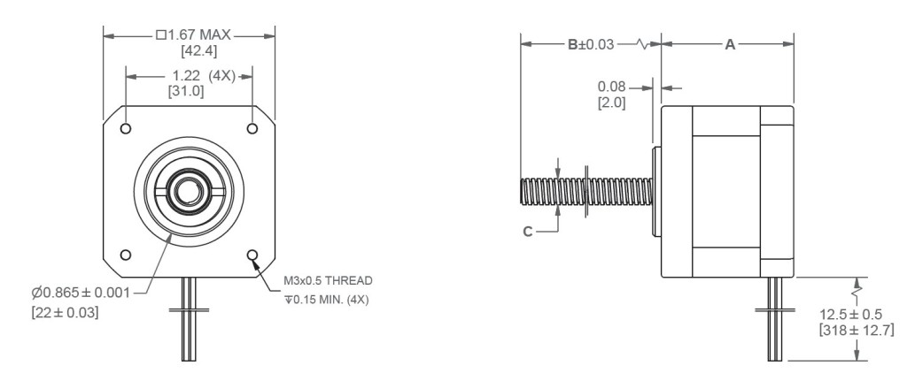 NEMA17_1.8_LE17LS_LINEAR_ACTUATOR_WITH_LINFINITY_NUT_DIMENSIONS